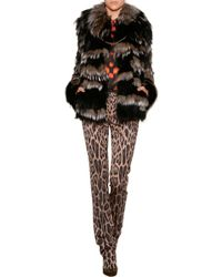 Roberto Cavalli Fox Fur Coat - Lyst