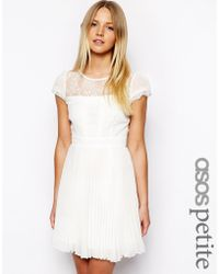 Asos Exclusive Dress With Cap Sleeve - Lyst