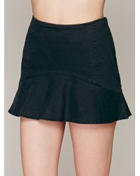 Free People High Rise Ruffle Skort - Lyst