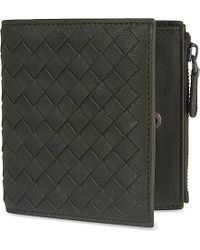 Bottega Veneta Intrecciato Leather Mini Wallet - For Men black - Lyst