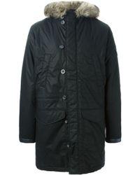 Diesel Padded Coat black - Lyst