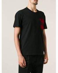 McQ by Alexander McQueen Checked Single Pocket T-shirt - Lyst