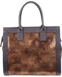 Enrico Fantini Large Leather Bag - Lyst