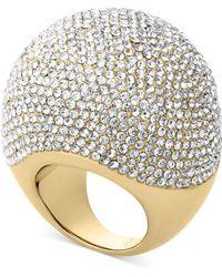 Michael Kors Goldtone Pave Bubble Ring - Lyst