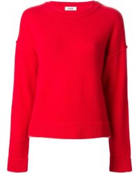 Issa Thin Pink Trimming Sweater - Lyst