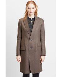 Julien David | Double Knit Wool Blend Jersey Long Coat | Lyst