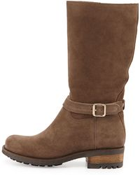 La Canadienne Chance Suede Buckle Boot - Lyst