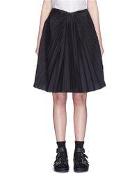 Facetasm - Plissé Pleat Front Overlay Skirt - Lyst
