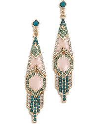 Adia Kibur Crystal Drop Earrings - Lyst