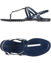 Tod's Thong Sandal blue - Lyst