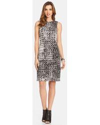 Karen Kane Illusion Print Sleeveless Knit Dress - Lyst