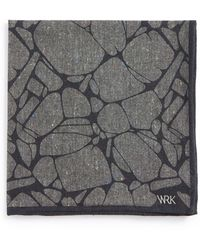 W.r.k. - Speckled Cotton Pocket Square - Lyst