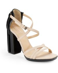 Reed Krakoff Leather Colorblock Strappy Sandals - Lyst