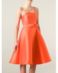 P.A.R.O.S.H. Flared Dress - Lyst