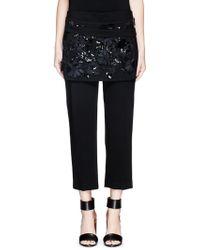 3.1 Phillip Lim | Floral Embellished Cropped Apron Crepe Pants | Lyst