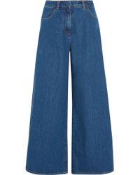 Kéji - Kéji - Split High-rise Wide-leg Jeans - Mid Denim - Lyst