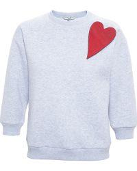 Natasha Zinko Leather Heart Sweatshirt - Lyst