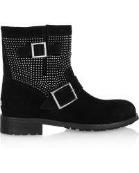 Jimmy Choo Youth Studded Suede Ankle Boots - Lyst