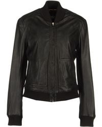 D&G Leather Outerwear - Lyst