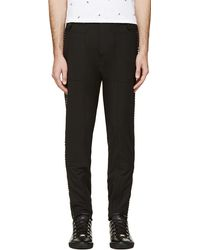 Diesel Black Gold Black Studded Paborkie Trousers - Lyst