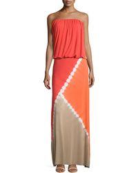 Young Fabulous & Broke Sidney Tie-Dye Strapless Maxi Dress - Lyst