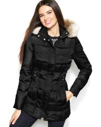 Inc International Concepts Faux-fur-trim Hooded Quilted Down Puffer Coat - Lyst