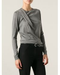 Gucci Draped Sweater - Lyst