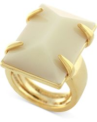 Vince Camuto - Gold-tone Large Rectangular Stone Ring - Lyst
