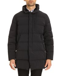 Armani Mid-Length Down Anorak With Fur Collar And Removable Black Hood - Lyst
