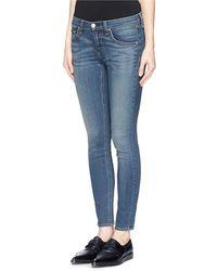 Rag & Bone Capri Water Ripple Skinny Jeans - Lyst