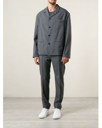 Valentino Gray Oversize Suit - Lyst