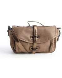 Liebeskind Khaki Page Leather Convertible Crossbody Bag - Lyst