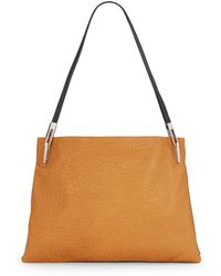 Pour La Victoire Adelle Two-Tone Leather Shoulder Bag - Lyst