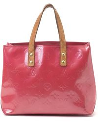 Louis Vuitton Pink Patent Leather Tote red - Lyst