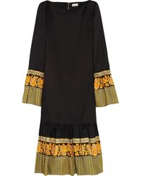 Suno Cotton and Silkblend Dress - Lyst