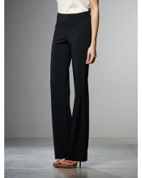 Patrizia Pepe Wide Leg Trousers In Stretch Viscose Cadì - Lyst