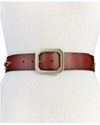 Betsey Johnson | New York Embelished Leather Pant Belt | Lyst