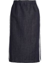 Marni Striped Denim Pencil Skirt - Lyst