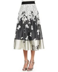 Sachin & Babi - Embroidered Floral Midi Ball Skirt - Lyst