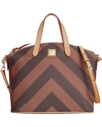 Dooney & Bourke Chevron Large Gabriella Satchel - Lyst
