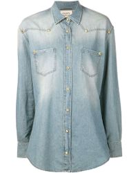 Fausto Puglisi Blue Denim Shirt - Lyst