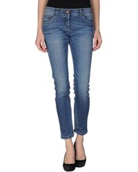 Iceberg Blue Denim Pants - Lyst