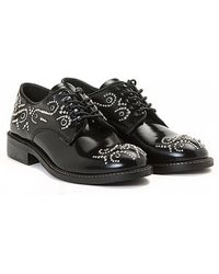 Leather Crown Jeffrey-Campbell-Snick-Plateausandalen-Aus-Leder-In-Gelb black - Lyst