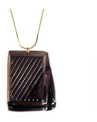 Tadam! Design - Slightly Melted Dark Chocolate Necklace - Lyst