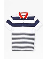 French Connection Bayard Stripe Polo Shirt - Lyst