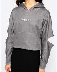 Nicce London - Hoodie With Cut Out Arm Detail - Lyst
