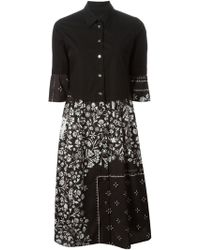MM6 by Maison Martin Margiela Floral-Print Shirt Dress - Lyst