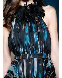 Matthew Williamson Ikat Organza Embroidered Ruffle Dress - Lyst