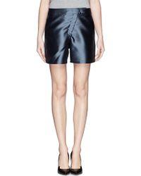 Armani Silk Blend Cady Shorts - Lyst