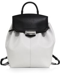 Alexander Wang Prisma Skeletal Two-Tone Leather Backpack white - Lyst